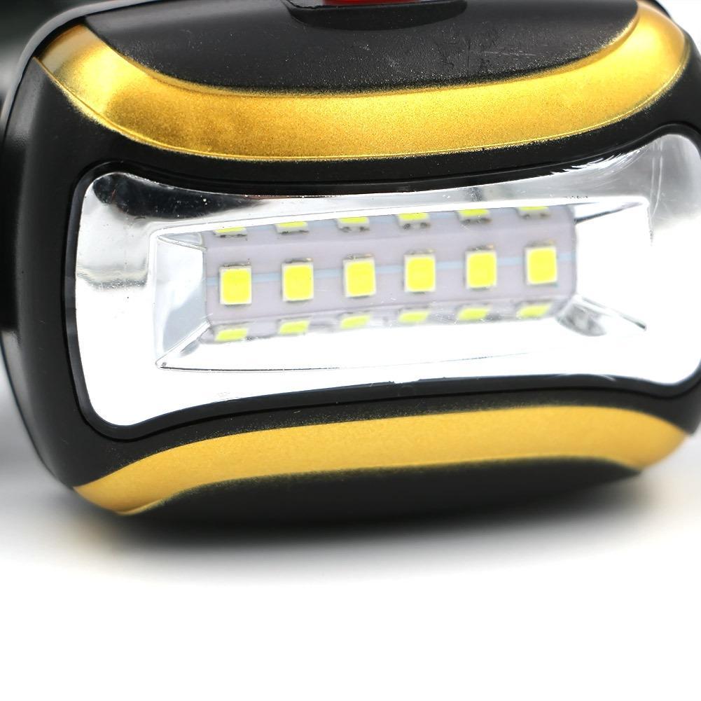 Impermeable 6 LED Mini COB Faro 3 modos de Pesca Al Aire Libre Luz de Montar A Caballo Gire el Faro Lampe Frontale 100 unids