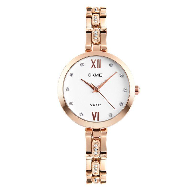 4b3070457b5e Compre SKMEI Para Mujer Reloj Analógico De Lujo Rhinestone Reloj De Acero  Inoxidable Relojes De Pulsera Relogio Feminino Mujer Relojes 1225 A  16.2  Del ...