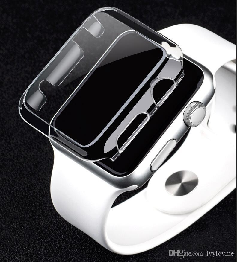 Clear Hard watch case Ultra Thin0.5 Full Body Case for Apple smart Watch S1 S2 38MM 42MM defender cover protector case