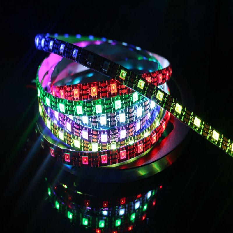 NEW Dream Colour 5M 60led/M 300Leds WS2812 IC 5050 RGB LED Strip Light IP20 IP67 Waterproof DC 5V 4PIN