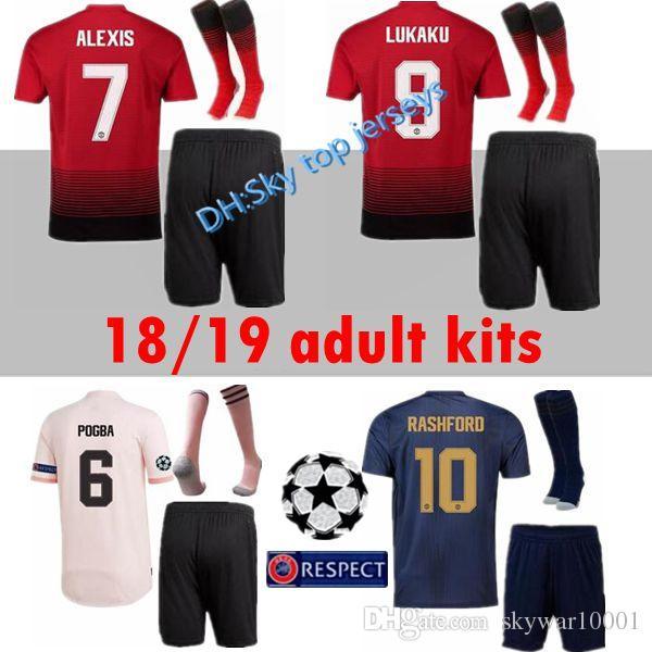 8445a6e7b59 Champions League 18 19 LUKAKU POGBA ALEXIS Manchester United Soccer ...