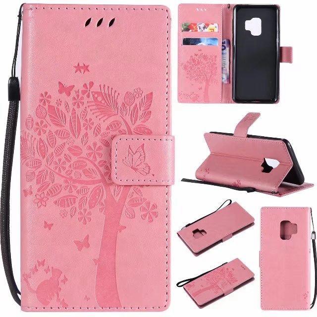 Portafoglio in pelle Iphone 12 Mini Pro MAX Samsung S9 PLUS A8 2018 LG Q6 Q8 V30 ZTE Blade A110 HTC U11 stand Strap Cat telefono copertura arborea