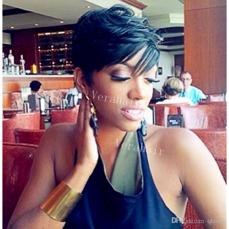 Acheter Hot Vente Rihanna Coiffure Perruques Court Bresilien Court