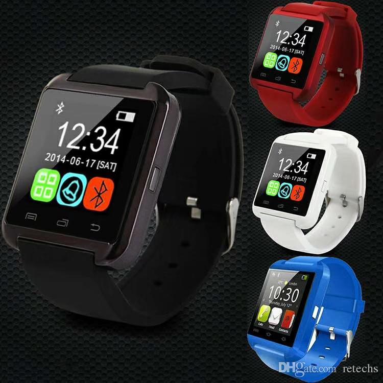 Hot U8 SmartWatch tela de toque DZ09 A1 relógio de pulso para iOS iPhone Samsung Sony Huawei telefones Android na caixa de presente