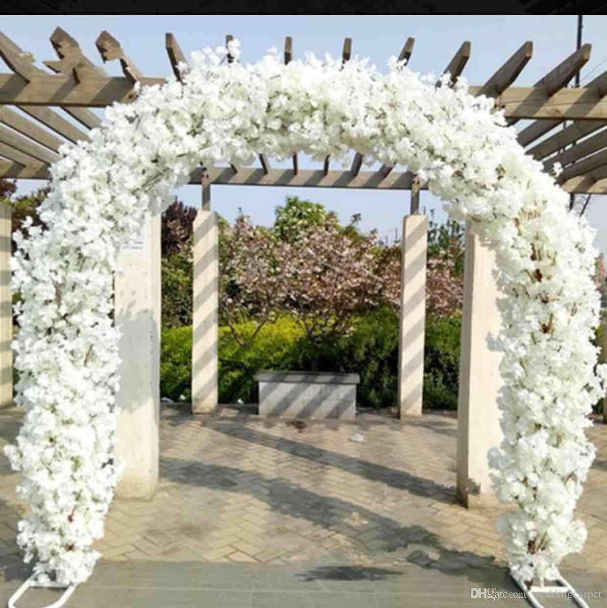 Upscale wedding centerpieces metal wedding arch door hanging garland upscale wedding centerpieces metal wedding arch door hanging garland flower stands with cherry blossoms for wedding favors party decoration graduation party junglespirit