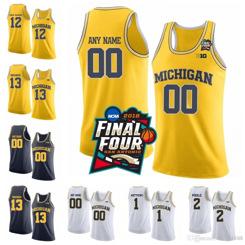 754ecb36dd06f7 2019 Mens Michigan Wolverines NCAA College Basketball 3 Zavier Simpson 2  Poole 4 Isaiah Livers 15 Jon Teske Stitched 2018 Final Four Jersey From  Cheap1688