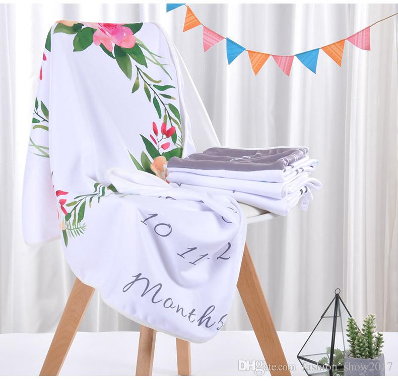 Yenidoğan Bebek Battaniye Kundaklama Wrap Moda Yumuşak Banyo Havlu Muslin Çiçek Baskılı Battaniye DIY Bebek Çocuk Battaniye Yenidoğan