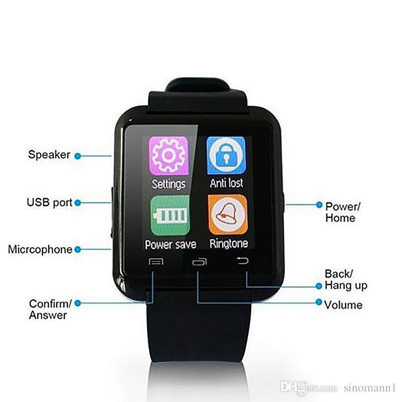 U8 Smartwatch Smartwatch mit SIM-Kartensteckplatz DZ09 A1 U8 und Gesundheit Watchs für Android Phone Smartphones Bluetooth Smart Watch U8 Watch