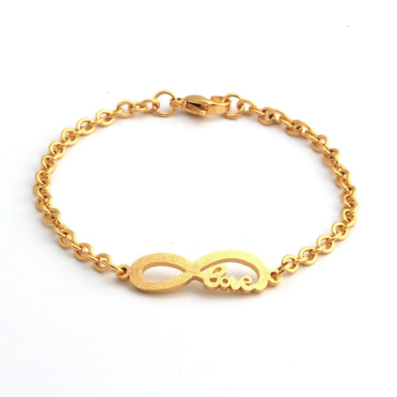 2ae0e9335b6 2019 Fashion New Baby Infant Gold Bracelet Stainless Steel Small Size Child  Kids Infinity Bracelet For Boy Girl Baby From Buete