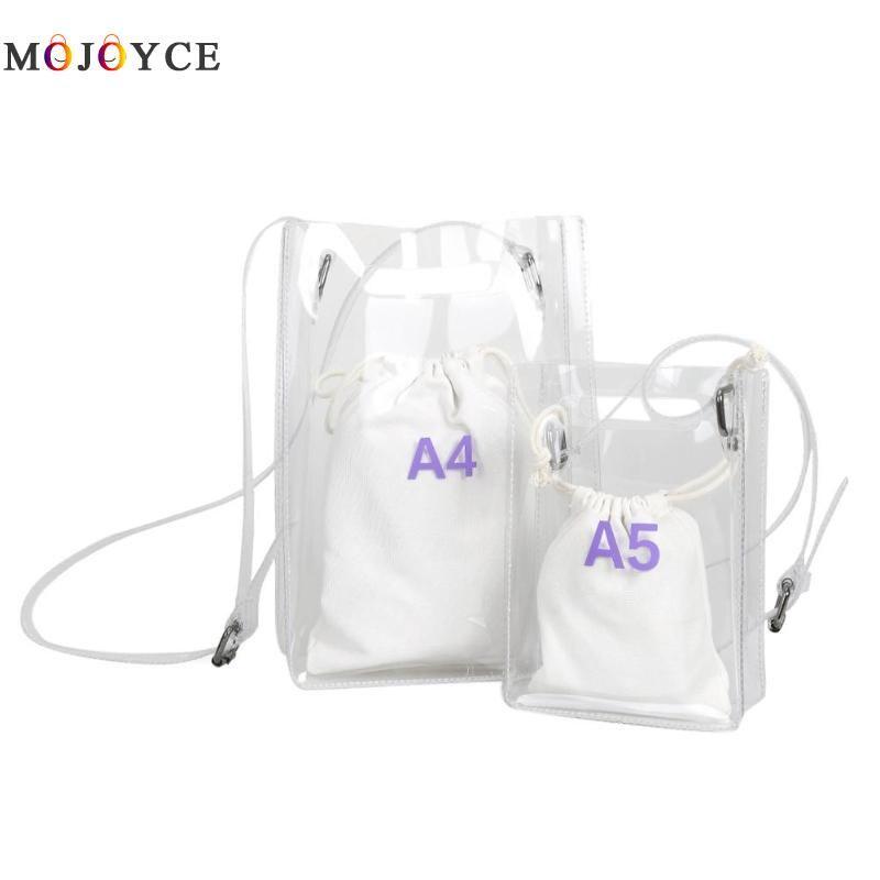 9c128c284618 2018 Women Clear Shoulder Bag Transparent PVC Waterproof Cute Composite  Messenger Bag Handbag Bolsa Feminina Designer Crossbody Bags Vintage  Handbags From ...