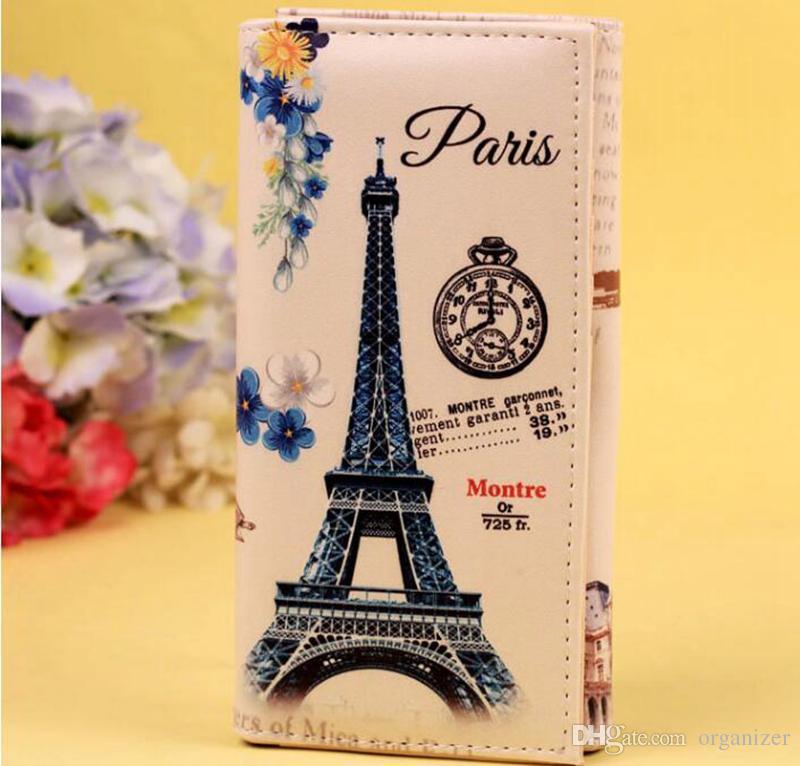 Fashion Women Wallet Clutch Purses Long Graffiti Pattern Embossed Coin Leather Wallet Card Holder Handbag Wallet