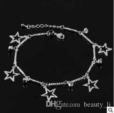 Women Beaded Silver Plated Anklet Daisy Flower/Hemp Rope/Bell Multiple style Foot Chain Ankle Bracelet Barefoot Sandals Summer Jewelry