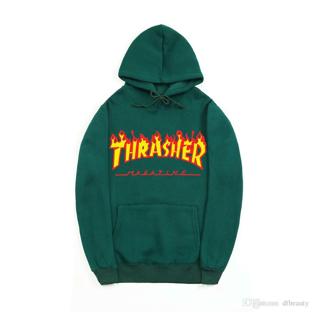Hohe Qualität UNISEX Feuer Brief Männer Hoodies Hip Hop Pullover der Jugend Sport Langarm Fleece Sweatshirts Männer und Frauen Pullover Hoodies