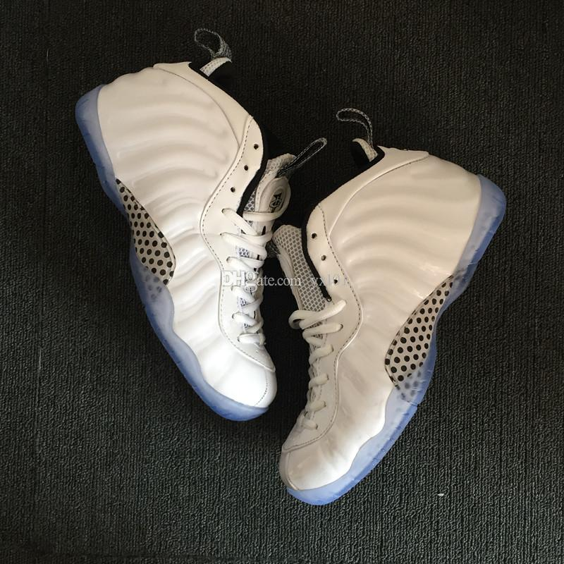 2018 New Penny Hardaway 1 Foams PRM All White Ice Rose Gold Sports Basketball Shoes for Mens Foam One Training Designer Sneakers Size 40-47