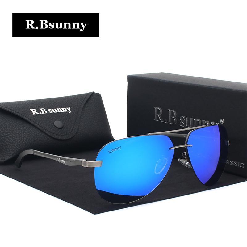 354ccdcacc Luxury Aluminum Magnesium Polarized Sunglasses Men Brand Design ...