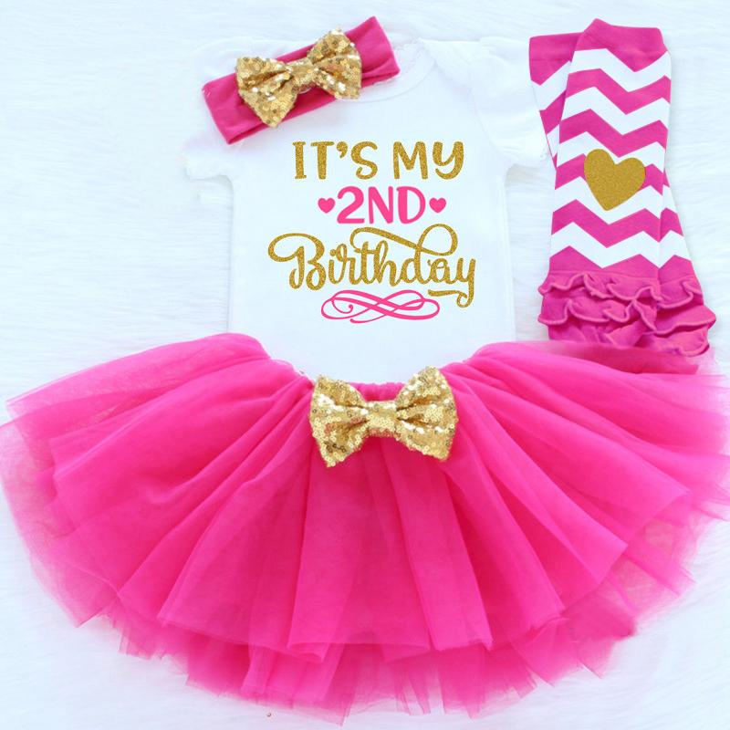 Baby Clothing Sets First Birthday Outfit Newborn Baby Girl Clothes Suits For Baptism Baby Gift 6M 12M 24M Infant Party Wear 4pcs Y18102207