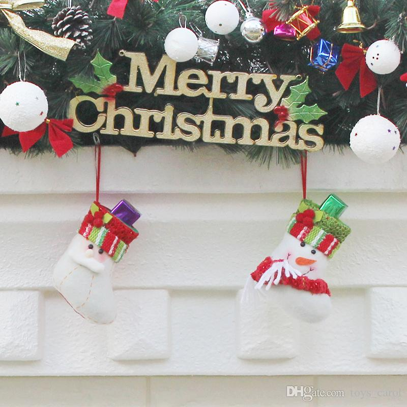 2019 new christmas stockings gift bags christmas decorations gifts christmas tree decorations pendants candy bag 13x795cm top kids toys for christmas