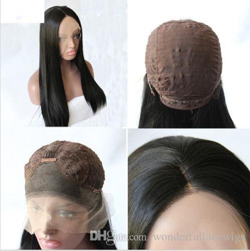 Синтетический парик фронта шнурка парики из натуральных парик чернокожих женщин с волосами младенца для женщин