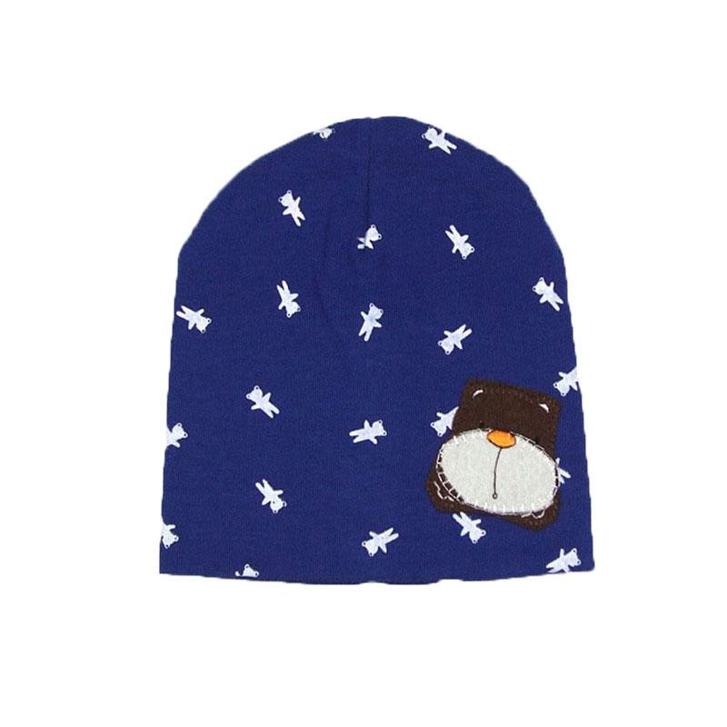 decf9277f25 Unisex Beanies Knit Cotton Hats Skullies Kids Little Bear Patch ...