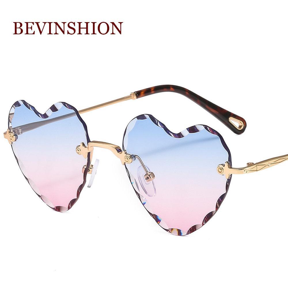0f0e3eae7e New Arrival Love Shape Heart Sunglasses Women Rimless Thick Lens Luxury  Brand Sun Glasses Diamond Cutting Top Trend Eyewear Designer Glasses  Sunglasses Uk ...