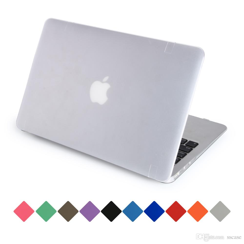 wholesale dealer 4ab6e 7eb42 Full Protective Cover Case MatteCrystal Clear Cases For Macbook covers 11.6  12 13.3 15.4 Air Pro Retina Touch Bar