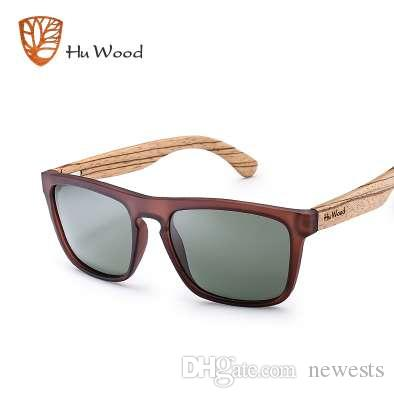 1c82ed2fe2 Compre HU WOOD Gafas De Sol De Bambú Naturales Para Hombres Gafas De ...