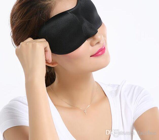 Noir 3D Masque Pour Les Yeux Doux Rembourré Couverture De Shade Les Yeux Bandés Eyemask Amis Famille Fête De Noël Fête Faveur Cadeau