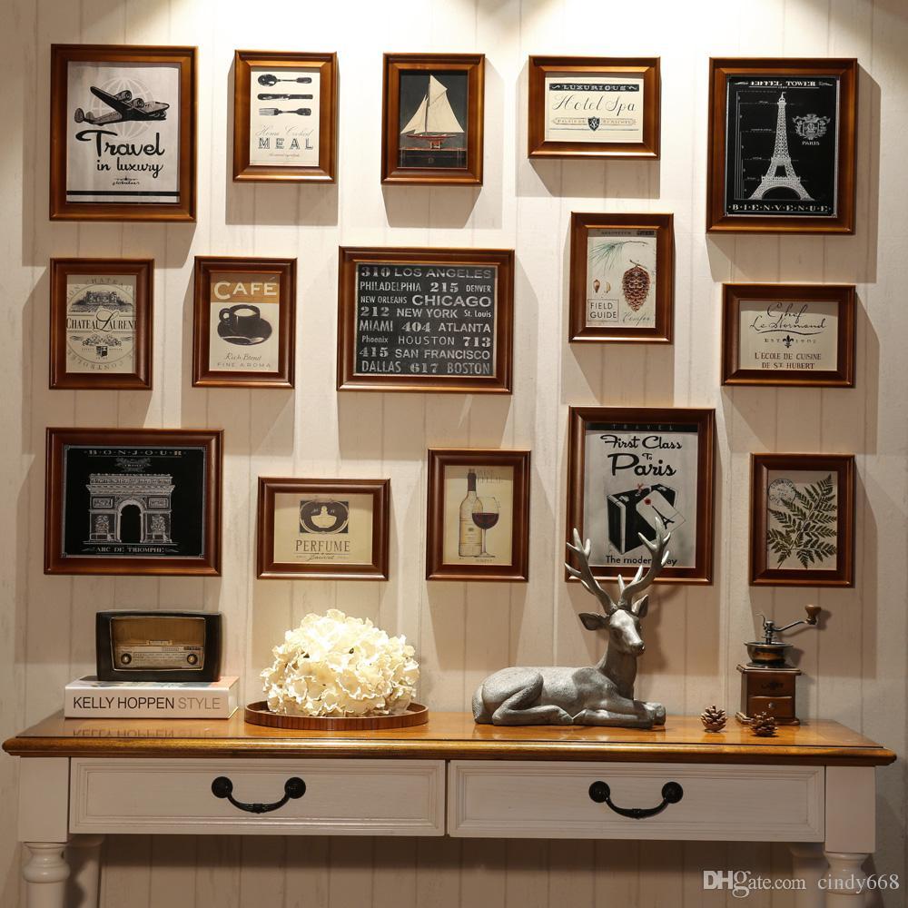 Großhandel Multi Frame 15 Stück Bilderrahmen 7 Zoll 10 Zoll Holz ...