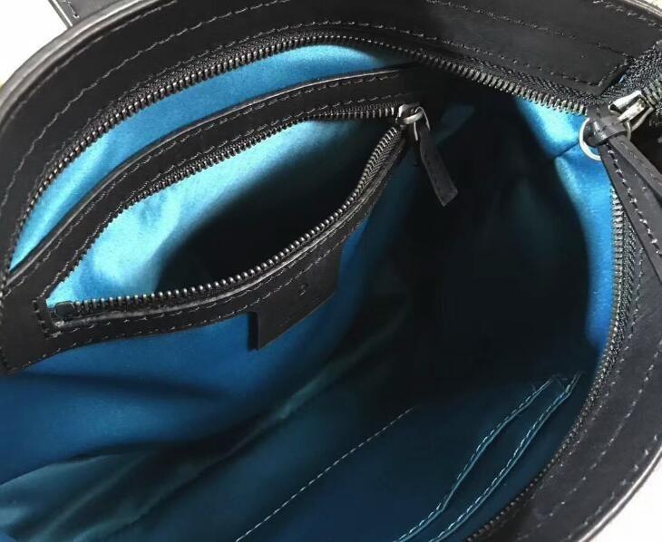 5A Women 499622 Dionysuss, bolsa de cubo mediano, correa magnética, cierre de cremallera, forro de seda, con bolsa para el polvo