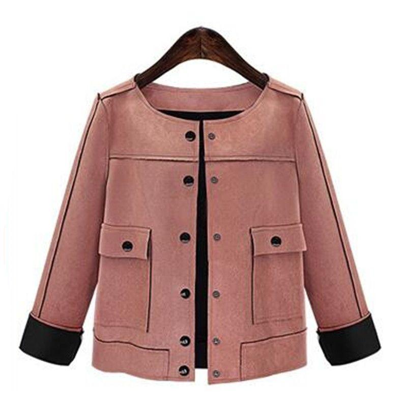 893db948c3c Female Style Women Short Jacket Fashion Autumn Winter Slim Vintage Chamois  Leather Suede Jacket For Outerwear Jackets And Coats Women Jacket From  Wangyicom, ...