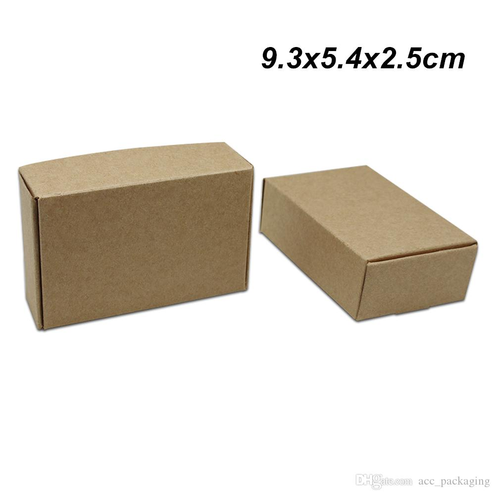 b74577209ad 9.3x5.4x2.5 Cm Brown Craft Paper Gift Packaging Box For Jewelry DIY  Handmade Soap Boxes Kraft Paper Wedding Cake Cookies Chocolate Cheap  Removal Boxes Box ...