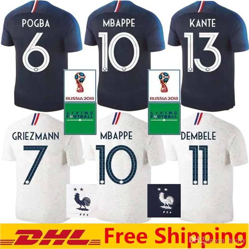 ... coupon for 2018 french soccer jersey world cup champions 2 stars mbappe  giroud griezmann pogba dembele 91842519e