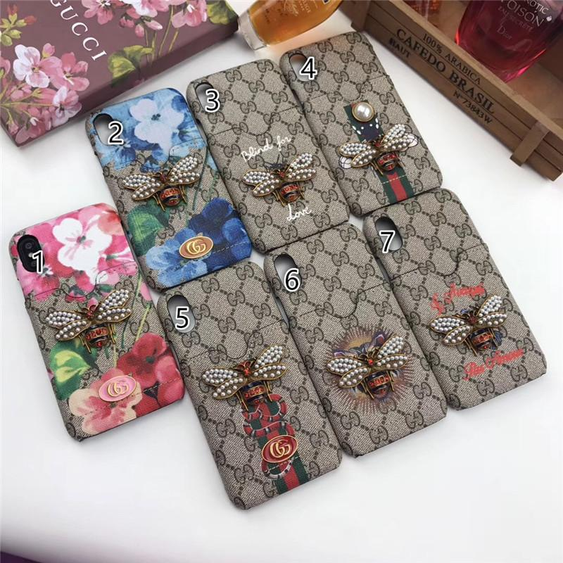 newest 5fffd 6b0c7 Iphone xs max luxury case Brand Phone Case for Iphone X Little Bee Pattern  Print Designer Phone Case for iPhone X 678 Plus