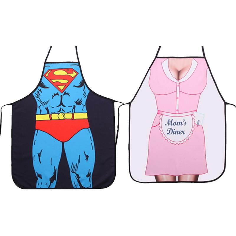 Funny Sexy Muscle Printed Apron Bibs for Woman Men Apron Home Cooking Baking Party BBQ Supplies Sleeveless