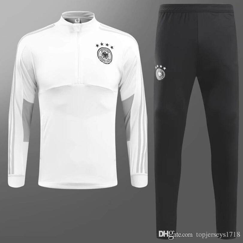 Compre Alemania Traje De Entrenamiento Maillot De Foot 2018 2019 Alemania  Survetement Fútbol Chandal Fútbol Chándal Marsella Traje De Entrenamiento  ... 4f46a4109337d