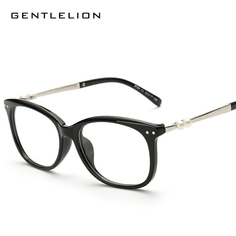 2308b2b9b56 2019 2017 Eyeglasses Women Eye Glasses Frame Men Spectacle Frame Glasses  Myopia Pearl Eyeglasses Frames Women S Frames 8124 From Dracaena