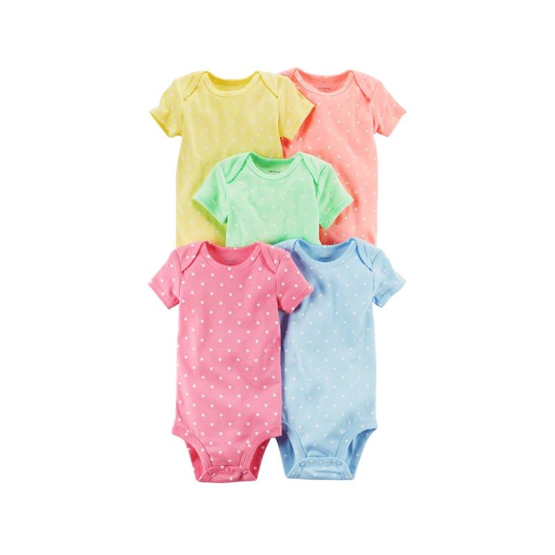 43d254c17 2019 Carter 'S 5 Pack Baby Children Kids Clothing Short Sleeve Original  Cotton Sweet Prints Bodysuits 126g660 From Runbaby, $39.73   DHgate.Com