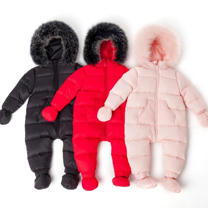 270447e4ee32 Snowsuit Baby Snow Wear Down Warm Outerwear Coat Childrens Overalls ...