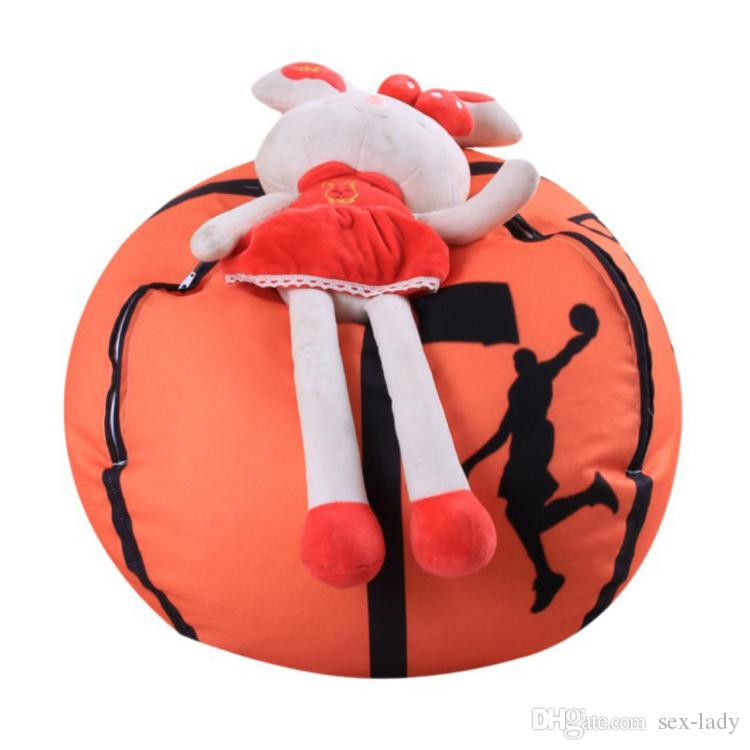 Football Basketball Baseball Storage Bean Bag 26 inch Stuffed Animal Plush Pouch Bag Clothing Laundry Storage Organizer