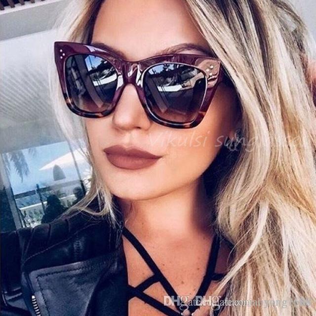 0ad1113043 Compre Oulylan Classic Cat Eye Sunglasses Women Vintage Oversized Gradient  Gafas De Sol De Diseño Sombras Mujer Lujo Diseñador UV400 Sunglass A  1.99  Del ...