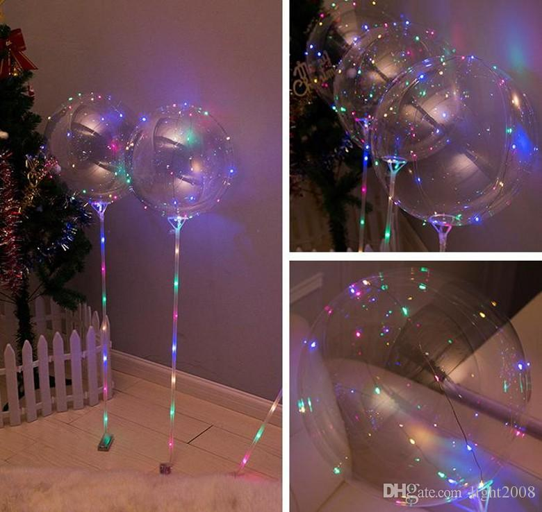 New Bobo Ball LED line with Stick Wave Ball 3M String Balloon light Up for Christmas Halloween Wedding Birthday Home Party Decoration