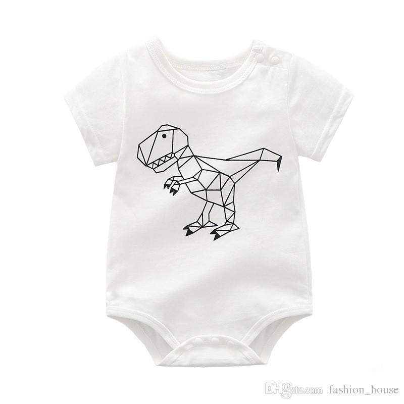 81fd0e91d699 INS New Summer Baby Girl Kids Climbing Romper Short Sleeve Abstract ...