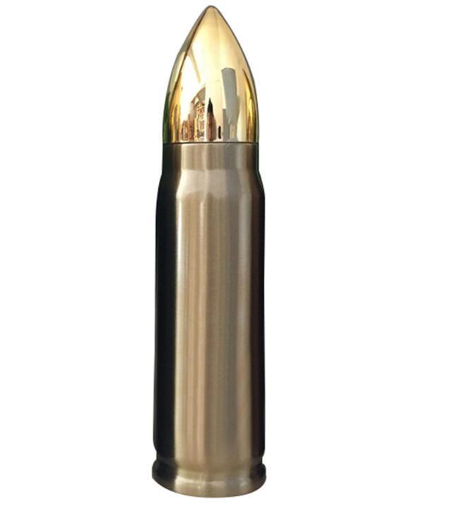 12 oz / 17 oz Botella de agua Bullet Flask Botella termo de acero inoxidable 500 ml Vacío de doble pared Taza aislada Taza de té Café Bullet Frasco Trave taza