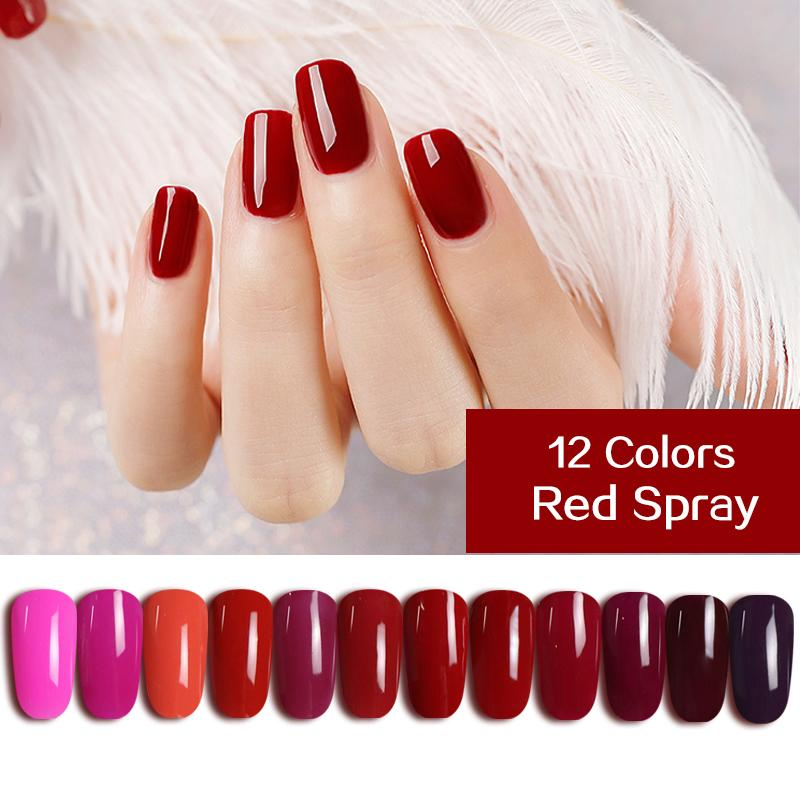 Queen Gel Nail Polish: Ms. Queen Red Spray Red Gel Nail Polish UV Varnish Soak