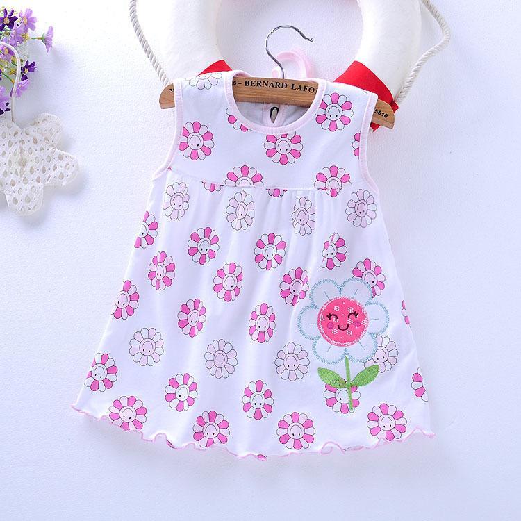 2018 Baby Girl Dress Hot Sale Knee Length Beach Sleeveless Cute 2017 New Women S  Baby Dress Summer Cotton Suspender Princess 0 1 2 From Rainbowny c03fb6a5c4