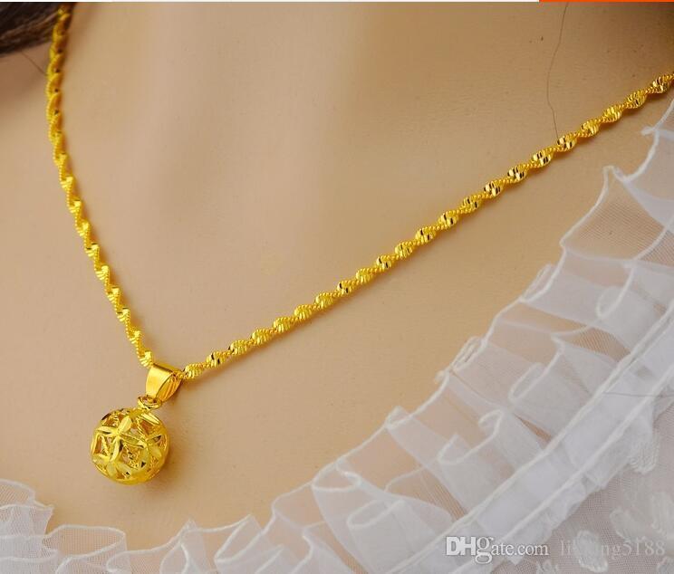 Altın kolye bayan takı imitasyon altın zincir Vietnam altın euro