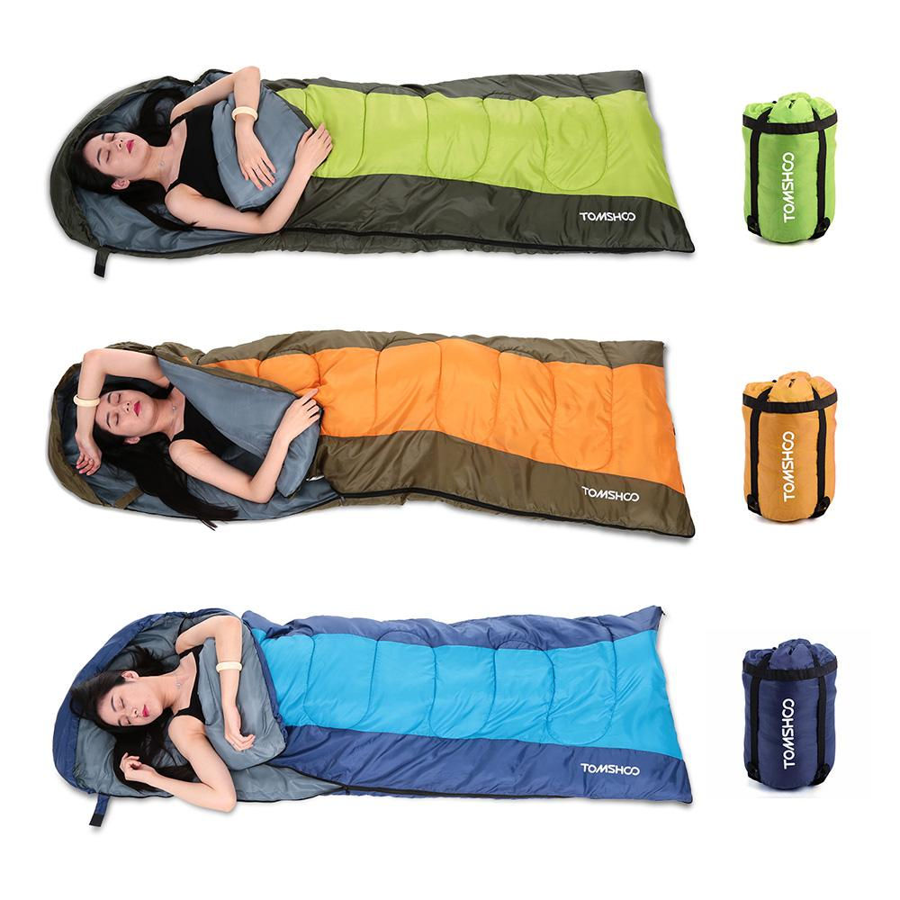 TOMSHOO 190 30X75CM Envelope Sleeping Bag 15kg Thermal Adult Outdoor Camping Travel Hiking Multifunction