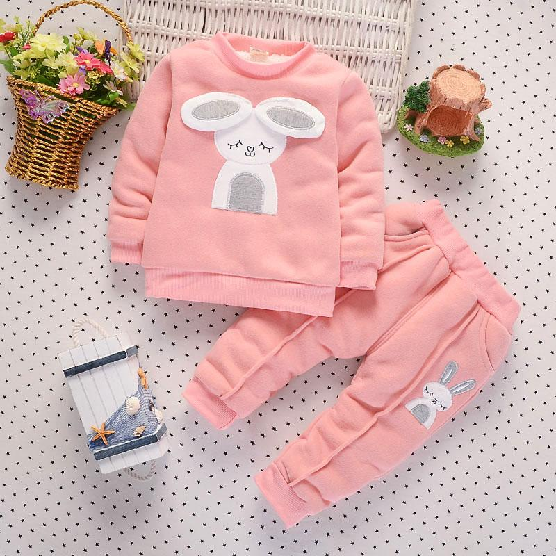 50ccfabf5caf 2019 BibiCola 2018 Autumn Winter Baby Girl Warm Clothing Sets ...