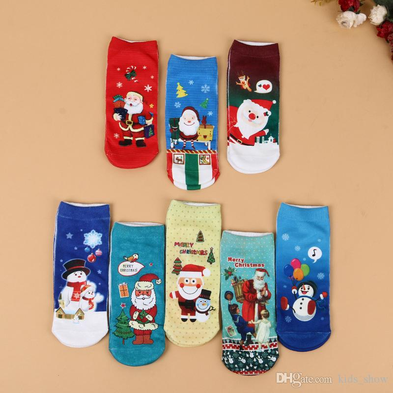 Kid Christmas Cartoon Socks Winter Autumn Cotton Boys Girls Socks ...