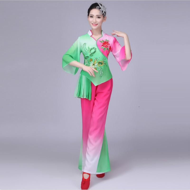 c319c2278b04 2019 Traditional Chinese Folk Dance Costume For Woman National Women ...